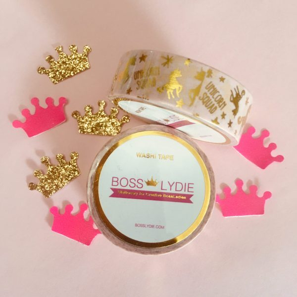 Washi Tape Unicorn Squad Gold & Rose