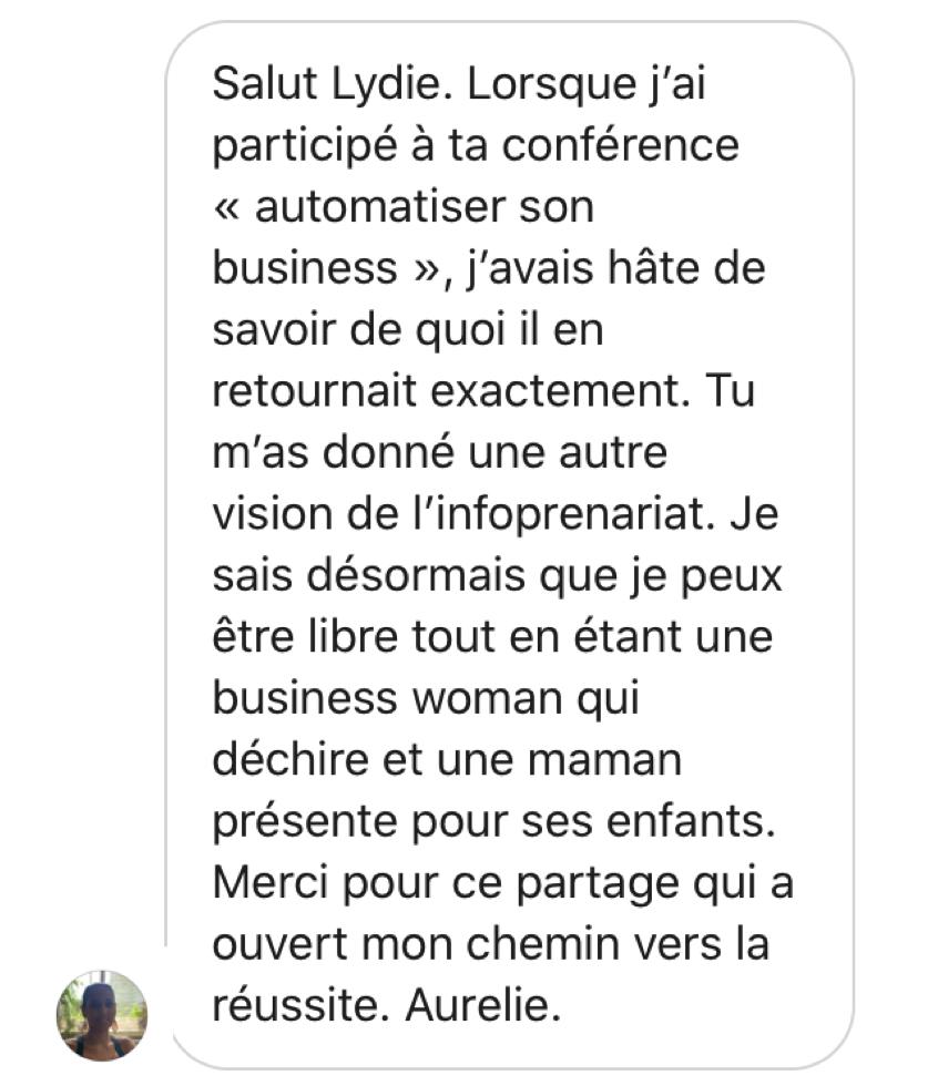 Témoignage Aurélie CDEP BossLydie