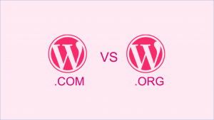 Vignette WordPress.com vs WordPress.org